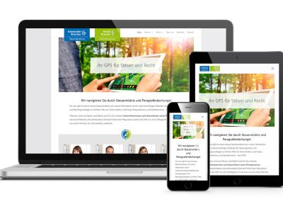 Anwander & Bracher – WordPress-Website